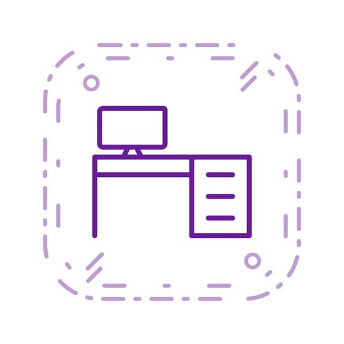 Office Table Vector Icon