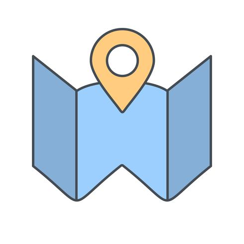 Plan Karte Vektor Icon