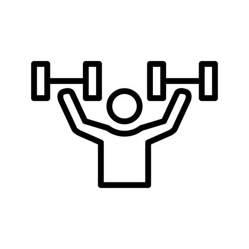 Icône de vecteur d'exercice