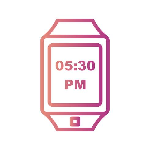Vector Smart Watch-pictogram