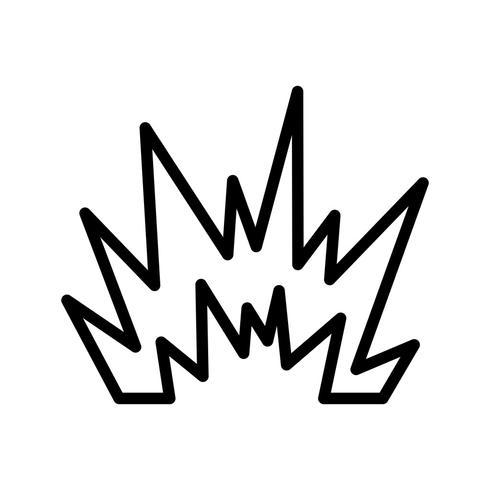 ontploffing vector pictogram
