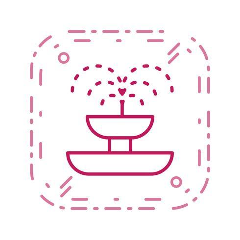 fontänvektorns ikon