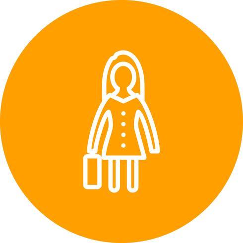 Vrouwen met werkmap Vector Icon