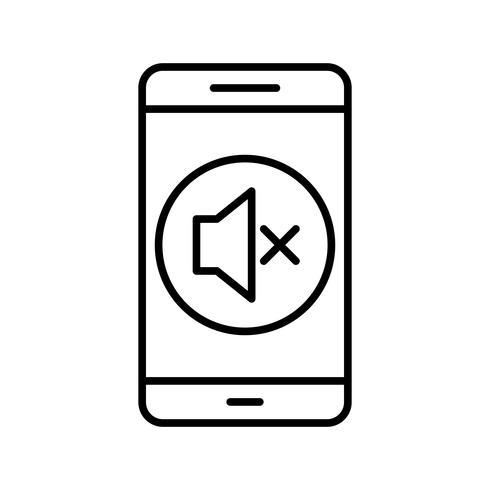 Icono de Vector de aplicación móvil silenciosa