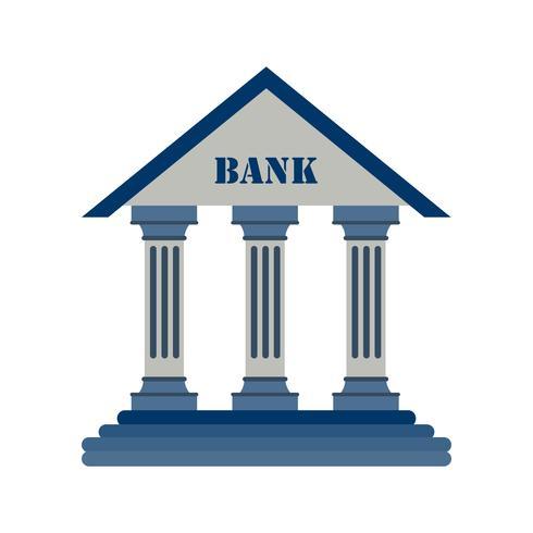 Icona di vettore di banca