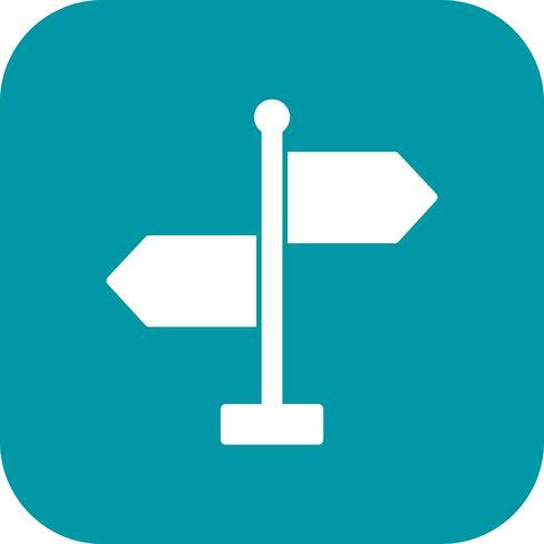 Icono de vector de direccion