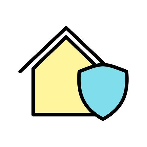 Beschermd huis Vector Icon
