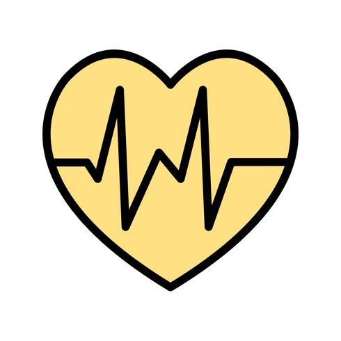 Icône de battement de coeur de vecteur