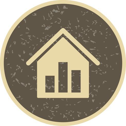 Icône de vecteur de statistiques de l'immobilier