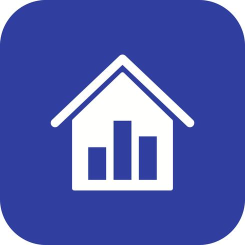 Real Estate Stats Vector Icon