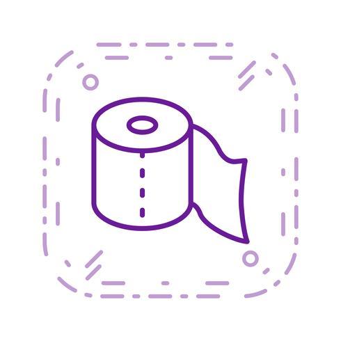 Icona di vettore di carta igienica