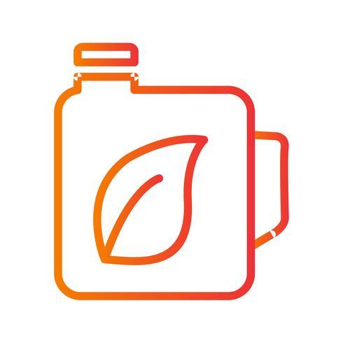 Icono de Vector de aceite ecológico
