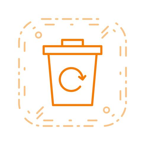 Garbage Recycle Vector Icon