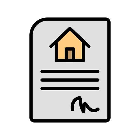 Huis contract vector pictogram