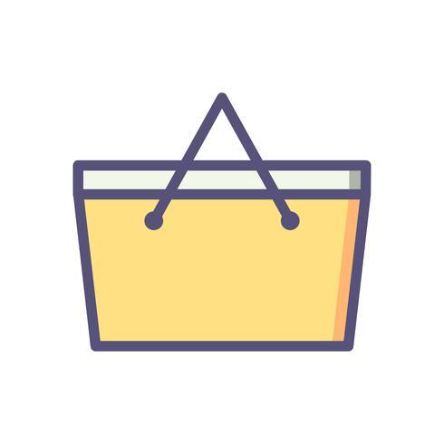 Picknickmand Vector pictogram