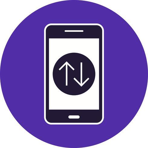 Datenverbindungs-bewegliche Anwendungs-Vektor-Ikone