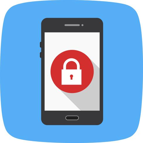 Vergrendel mobiele applicatie vector pictogram
