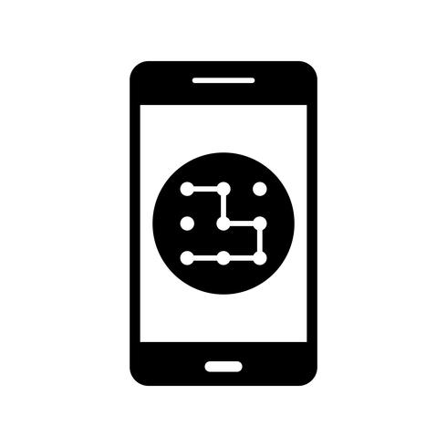 Modèle Mobile Application Vector Icon