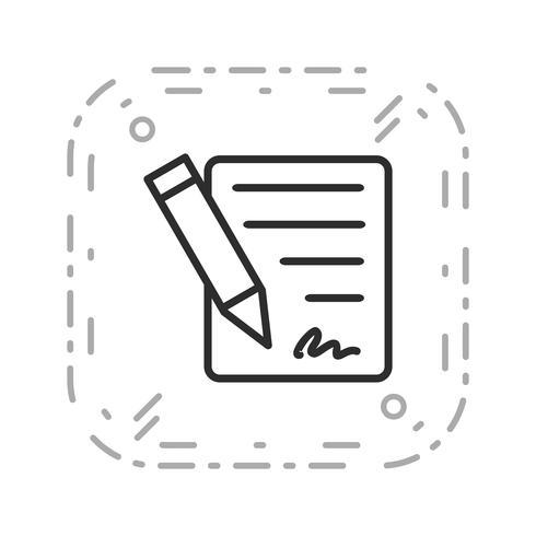 Ícone de vetor de contrato