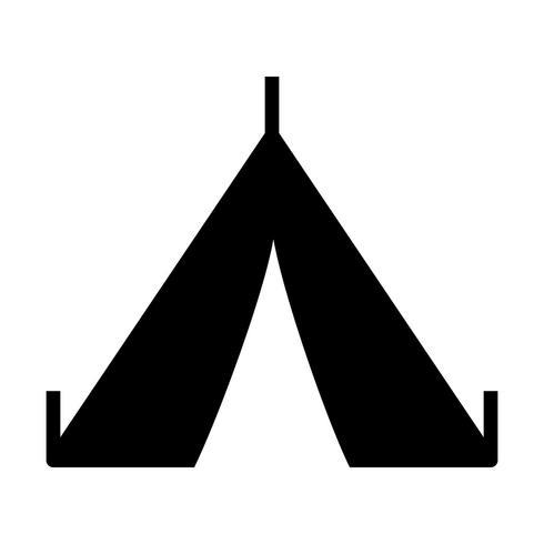 Icône de vecteur de tente