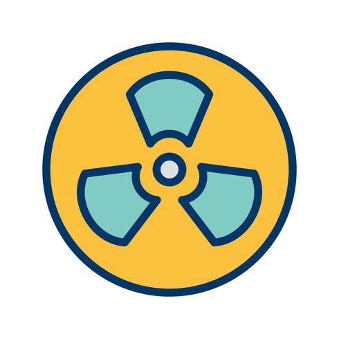 Icona di vettore di radiazione