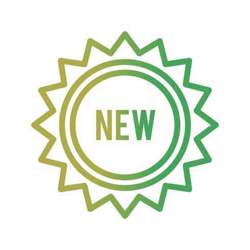 Vector Nieuw pictogram