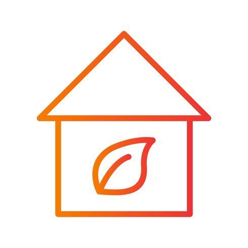 Icona di vettore casa eco