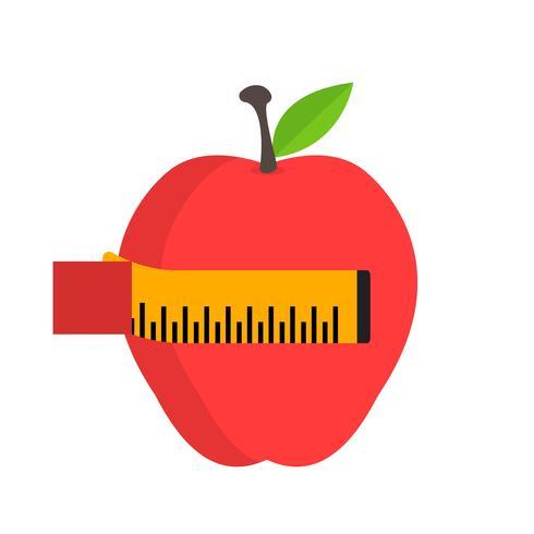 Vector icono de dieta