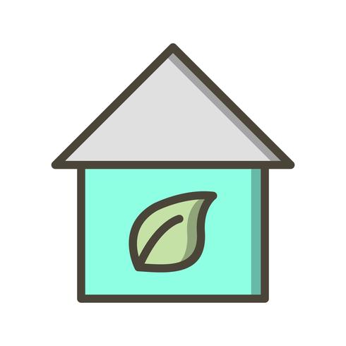 eco thuis vector pictogram