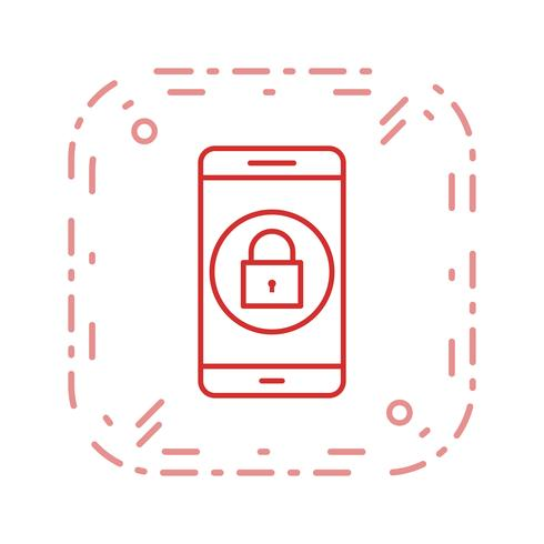 Verrouiller l'icône Vector Application Mobile