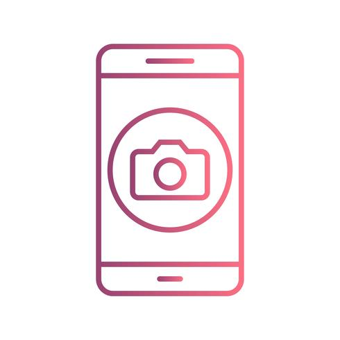 Camera mobiele applicatie Vector Icon