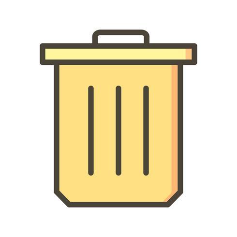 Ícone de vetor de lixo