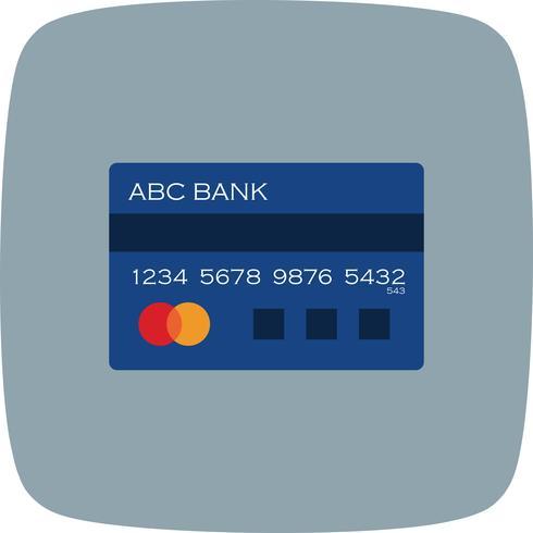 Icona della carta di credito di vettore