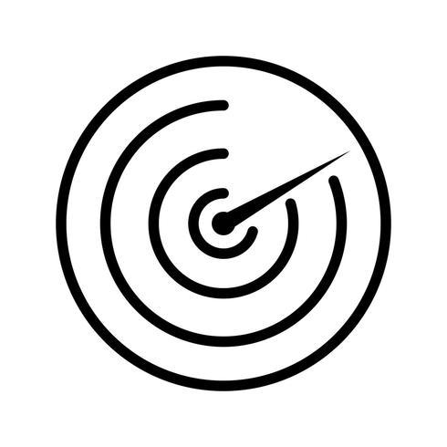 Radarvektorns ikon
