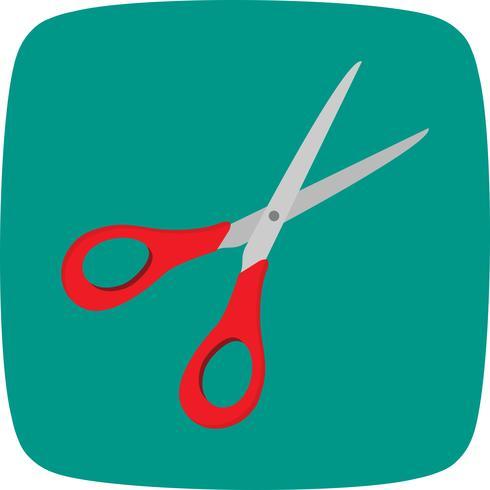 Icono de vector de tijeras