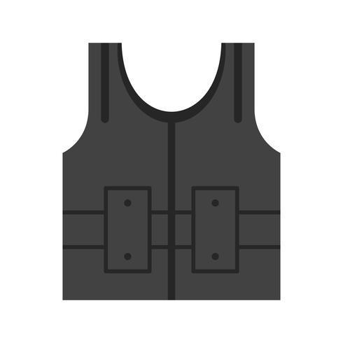 bullet proof jecket vector pictogram