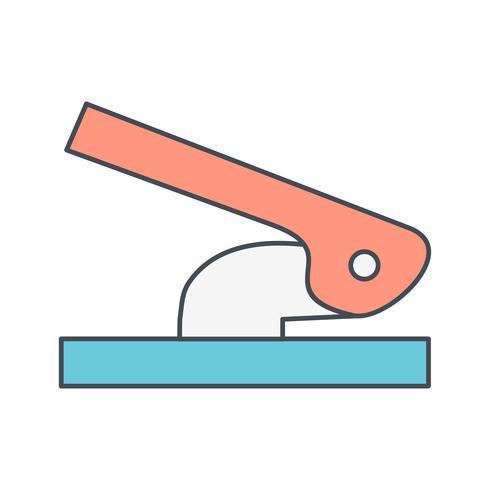 Icona di vettore di perforatore