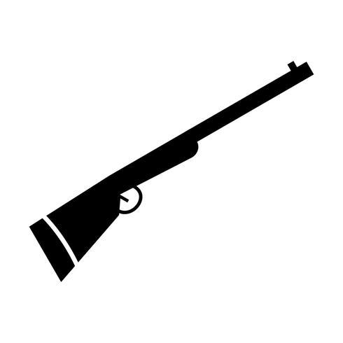 Escopeta vector icono