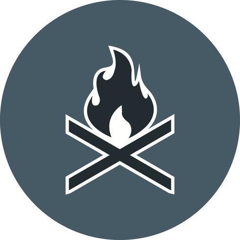 icône de vecteur de feu d'os