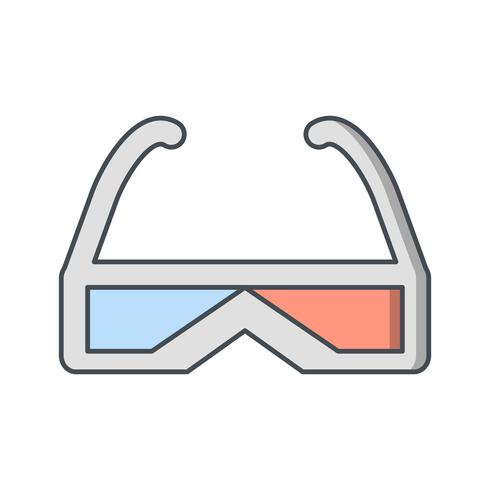 3d Glasses Vector Icon