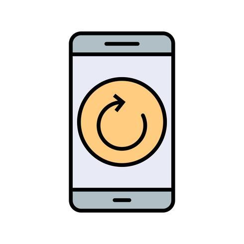 Mobile Anwendungsvektorsymbol zurücksetzen