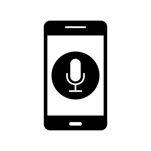 Microfoon mobiele applicatie Vector Icon