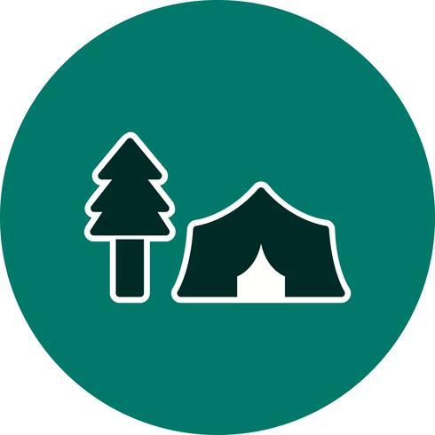 Barraca com árvores Vector Icon