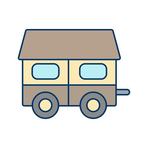Ícone de vetor de casa móvel