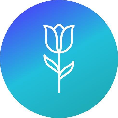 Icône de vecteur de tulipe