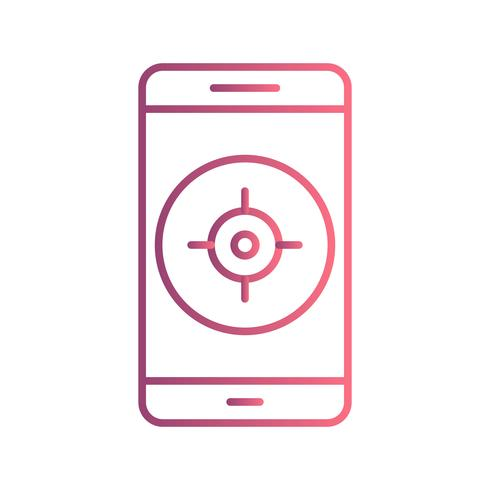 Icono de vector de aplicación móvil GPS