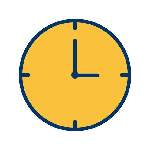 Icono de vector de reloj