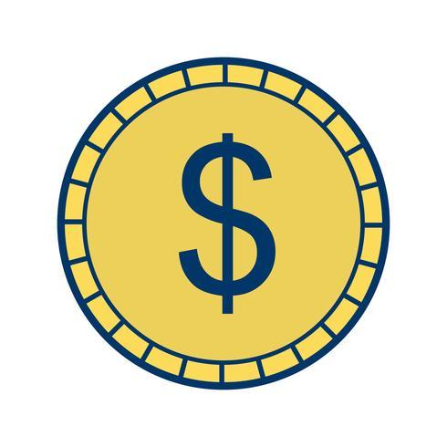 Icona di vettore di moneta