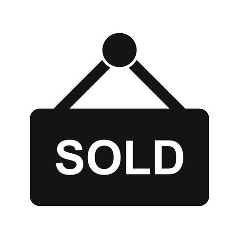 Ícone de vetor vendido