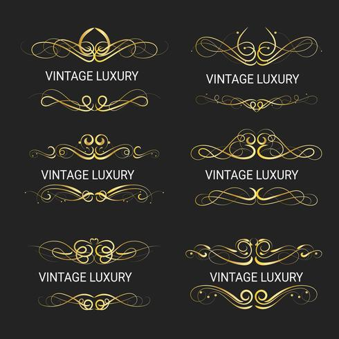 Moldura decorativa de ouro. Modelos vintage